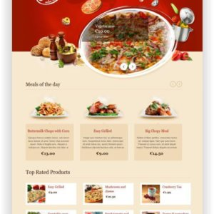 WooCommerce Online Restaurant Theme