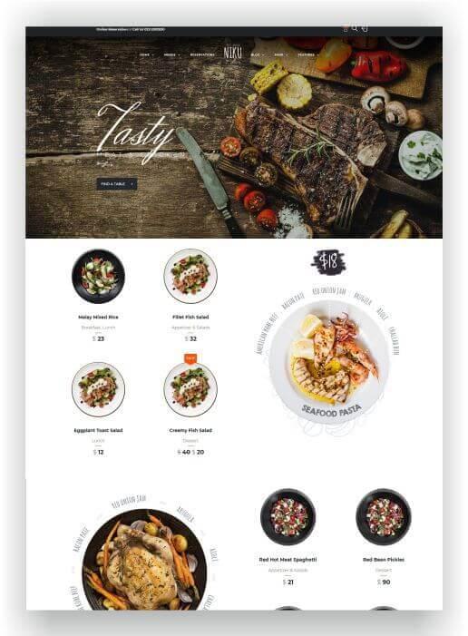WooCommerce Restaurant Thema