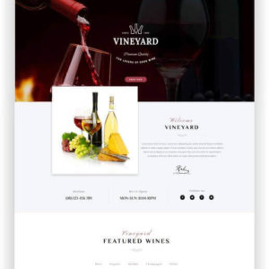 Responsive WooCommerce Wine Theme