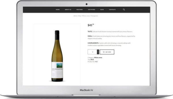 WooCommerce Theme for Winery