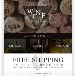 WooCommerce Winestore Theme