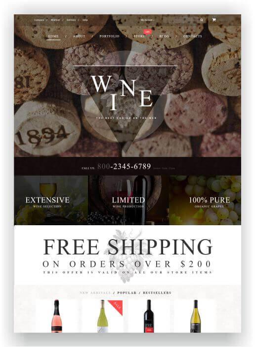 WooCommerce Winestore Theme