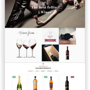 New WooCommerce Wine Shop Theme