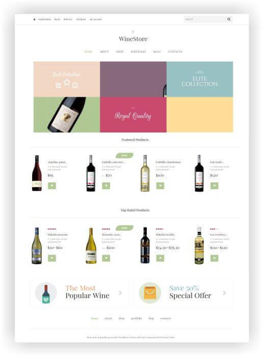 WooCommerce Wine Onlineshop Theme