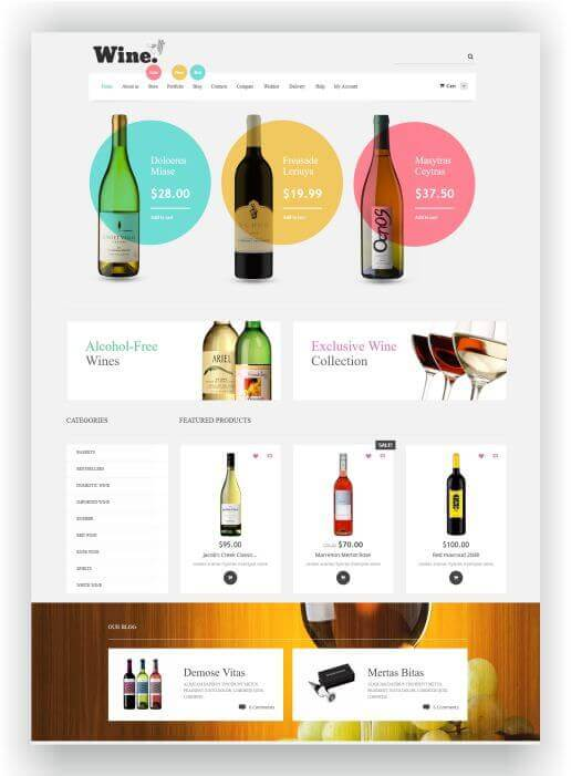 WooCommerce Wine Supermarket Theme