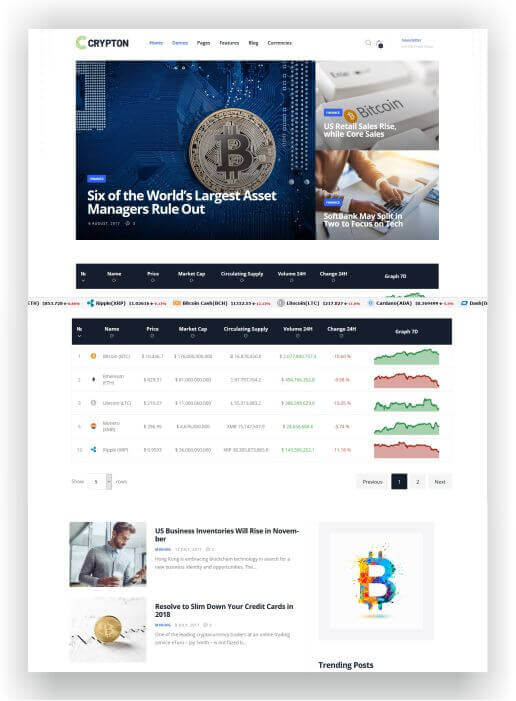 WordPress Cryptocurrencies Magazine Theme