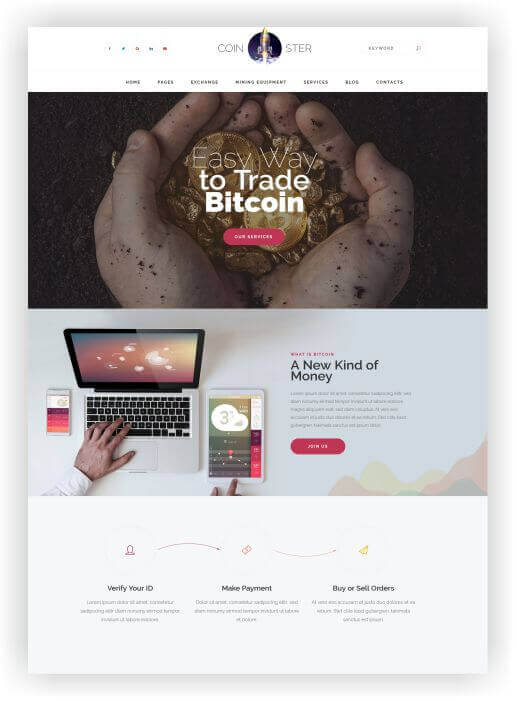 WordPress Crypto Template