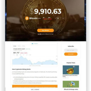 WordPress Crypto Theme