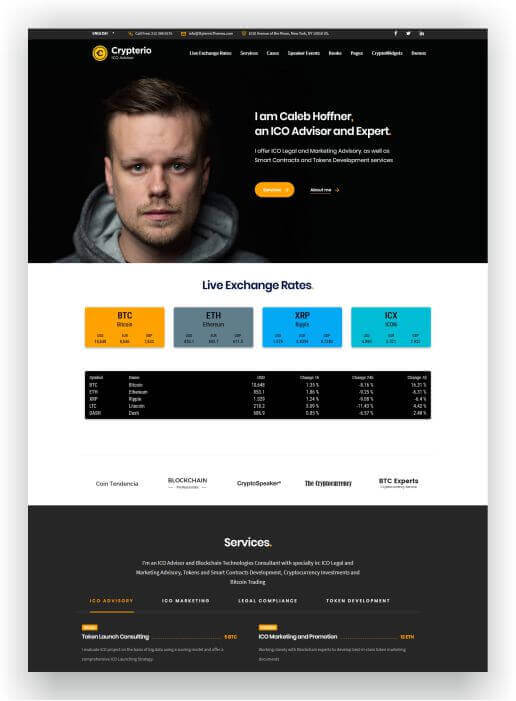 WordPress ICO Thema