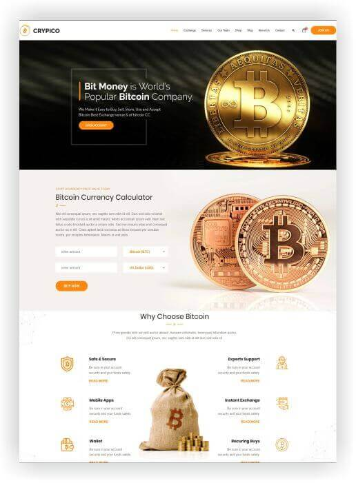 WordPress Bitcoin Theme