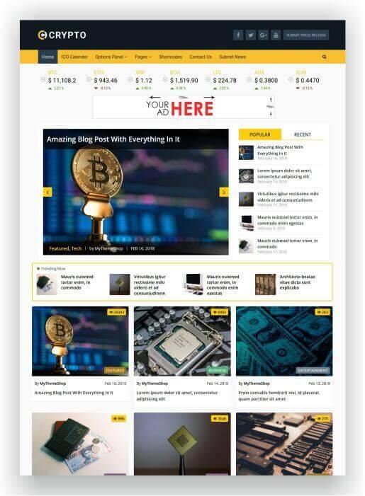 WordPress Bitcoin Thema