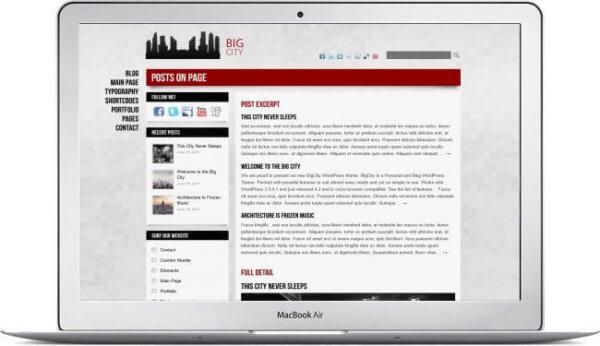 WordPress theme for personal blog
