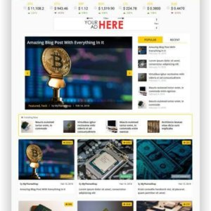 WordPress Bitcoin Thema