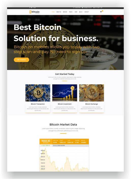 Joomla Bitcoin Template