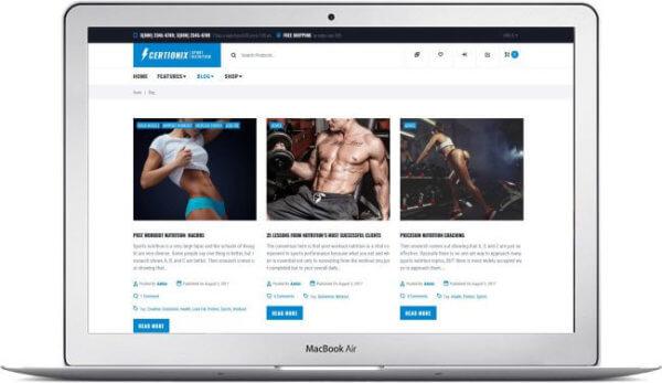WooCommerce Sport Nutrition Theme