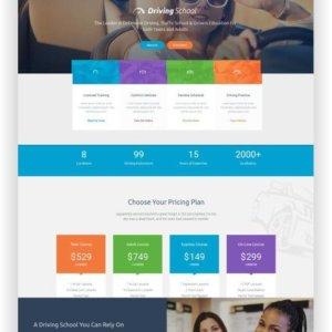 WordPress Driving School Theme